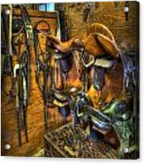 Life On The Ranch - Tack Room Acrylic Print by Lee Dos Santos
