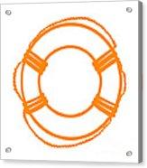 Life Preserver In Orange And White Acrylic Print