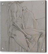 Life Study Male Ballet Dancer Acrylic Print
