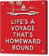 Life Voyage Red Acrylic Print