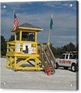 Lifeguard And Beachpatrol Acrylic Print