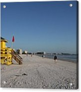 Lifeguard On Siesta Key Acrylic Print