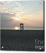 Lifeguard Chair At Sunrise.01 Acrylic Print