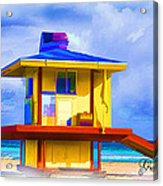 Lifeguard Station Acrylic Print