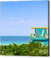 Lifeguard Station In Miami Acrylic Print