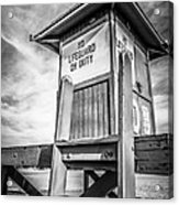 Lifeguard Tower 10 Newport Beach Hdr Picture Acrylic Print