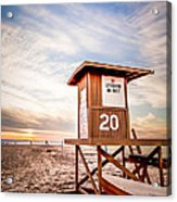 Lifeguard Tower 20 Newport Beach Ca Picture Acrylic Print