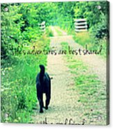 Life's Adventures Acrylic Print by Andrea Dale