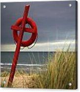 Lifesaver On The Beach Acrylic Print