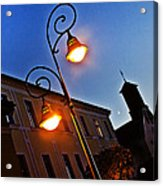 Light And Moon In B.bystrica Acrylic Print