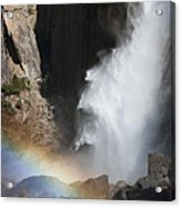 Light And Water - Yosemite Falls Acrylic Print