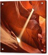 Light Beam In Canyon Acrylic Print