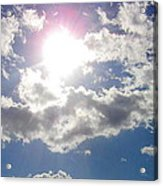 Light Behind The Clouds Acrylic Print