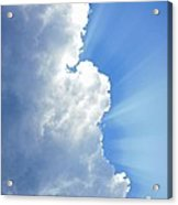 Light Behind The Clouds Acrylic Print by Thomas Fouch
