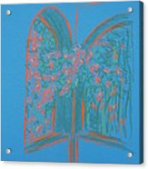 Light Blue Patio Acrylic Print by Marcia Meade