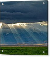 Light From The City Above Acrylic Print