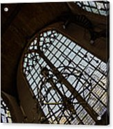 Light - Arched Windows And Golden Chandeliers Acrylic Print