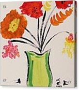 Light Green Vase Acrylic Print