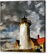 Light House In A Storm Acrylic Print