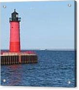 Light House Lake Michigan Acrylic Print