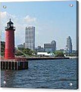 Light House Milwaukee Skyline 1 Acrylic Print