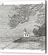 Light House On San Juan Island Lime Point Lighthouse Acrylic Print