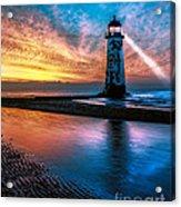Light House Sunset Acrylic Print