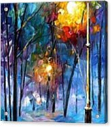 Light Of Luck - Palette Knife Oil Painting On Canvas By Leonid Afremov Acrylic Print