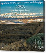 Light Of The Lord Acrylic Print