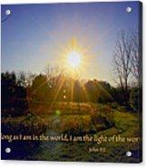 Light Of The World Acrylic Print