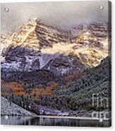 Light On Maroon Bells Acrylic Print