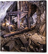 Light Painting In A Gold Mine 2 Acrylic Print