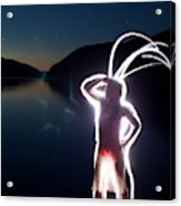 Light Painting Of An Adult Woman Acrylic Print