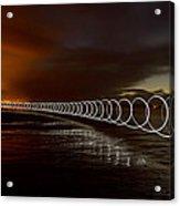Light Play On Saunton Sands Acrylic Print
