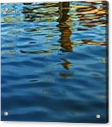 Light Reflections On The Water By A Dock At Aransas Pass Acrylic Print