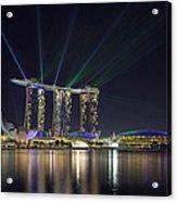 Light Show At Marina Bay Sands Hotel And Casino II Acrylic Print