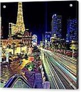Light Speed Vegas Acrylic Print