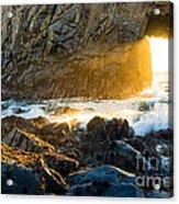 Light The Way - Arch Rock In Pfeiffer Beach In Big Sur. Acrylic Print by Jamie Pham