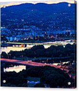 Light Time On Donau Acrylic Print