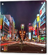 Light Trails In Susukino Acrylic Print