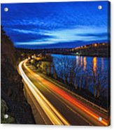 Light Trails On 99e Acrylic Print