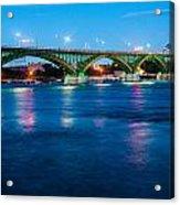 Light Up The Peace Bridge Acrylic Print