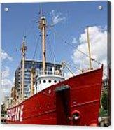 Light Vessel Baltimore Harbor Acrylic Print