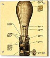 Lightbulb Patent Acrylic Print by Digital Reproductions