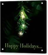 Lighted Dewdrops Holiday Greeting Card Acrylic Print