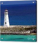 Lighthouse Along Coast Of Paradise Island Bahamas Acrylic Print