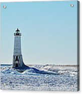 Lighthouse And Winter Acrylic Print