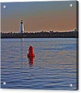 Lighthouse At Harbor Acrylic Print