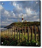Lighthouse At Montauk With Dramatic Sky Acrylic Print