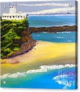 Lighthouse At Nobbys Beach Newcastle Australia Acrylic Print